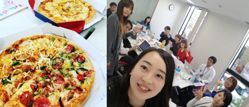 ピザ,部活動,勉強会,クリエイティブ