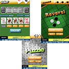 「Touch the Number」「Puzzle」「Rebersi」「Poker」